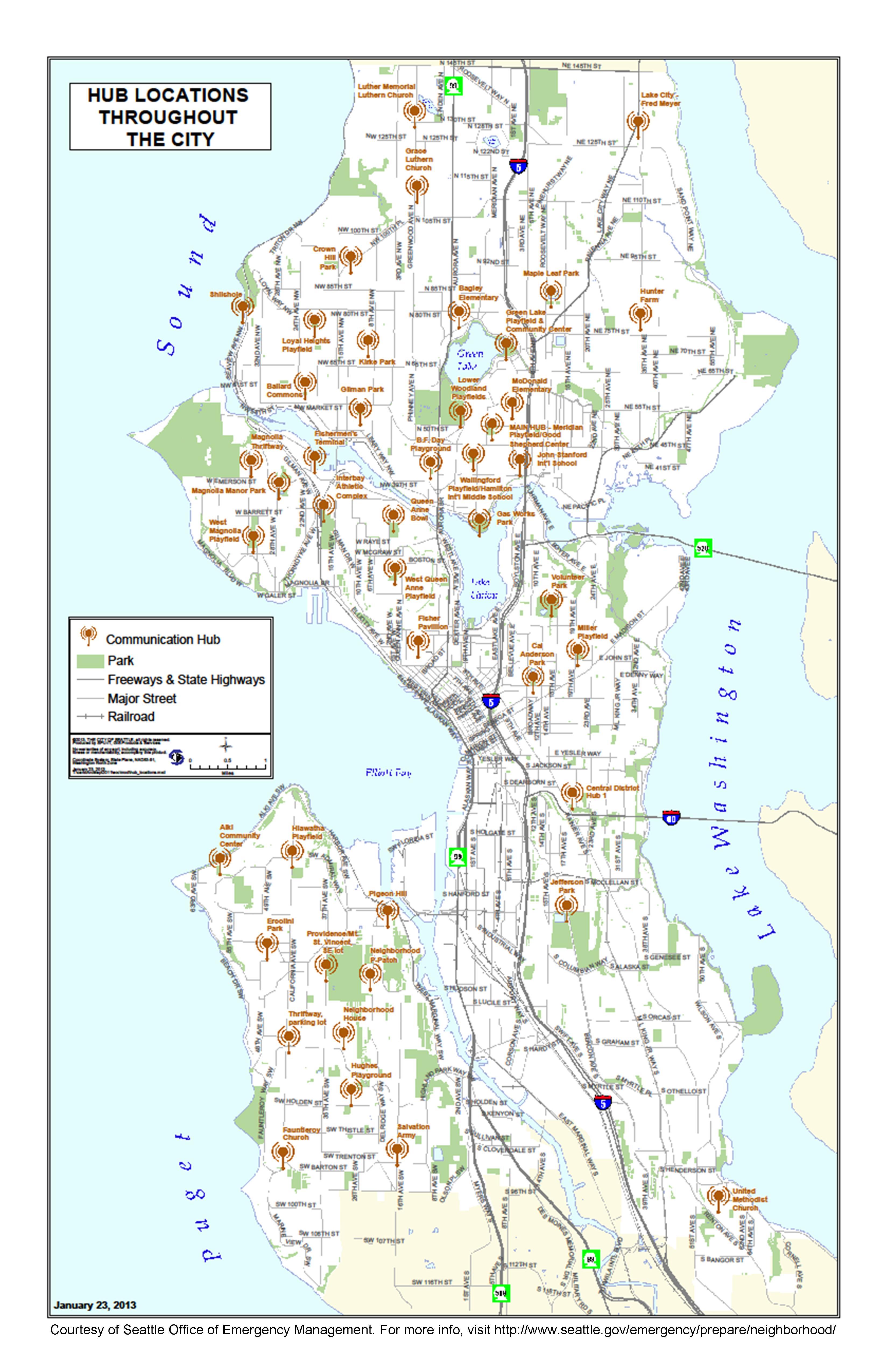 Map Of Seattle Neighborhoods Related Keywords